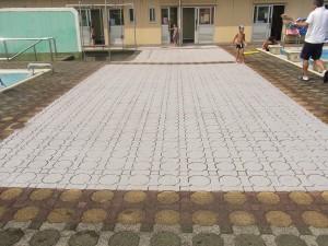 熱交換塗料 小学校プール施工